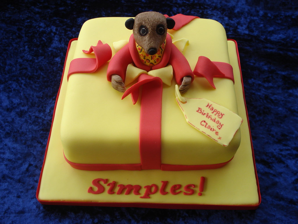 Aleksander The Meerkat Birthday Cake Made For A Lady Who