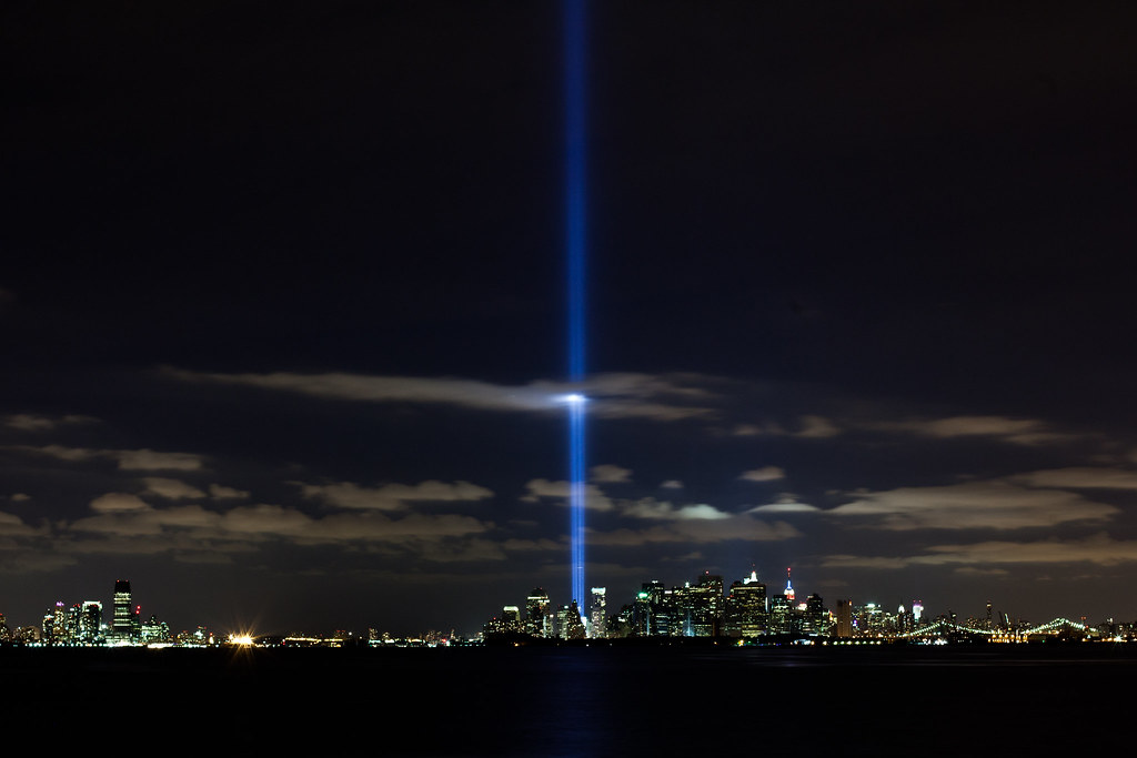 World Trade Center Lights Nyc Sky On 9th Anniversary Of At