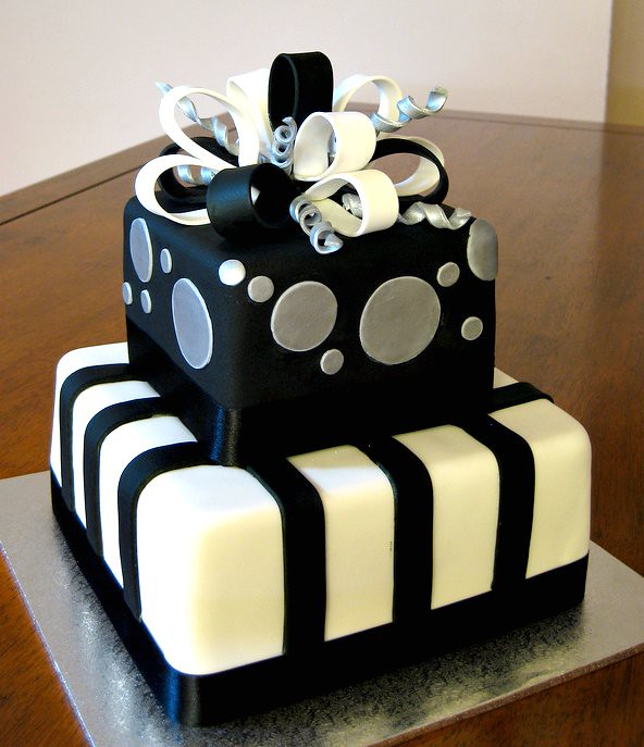 Black Amp Silver Present 30th Birthday Cake E B Flickr