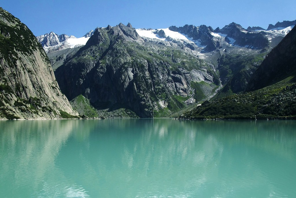 Grimsel Gelmersee Switzerland This Reservoir With A