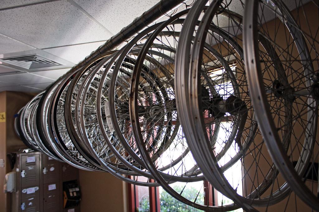New Wheel Storage Our Version Of The Bike Kitchen
