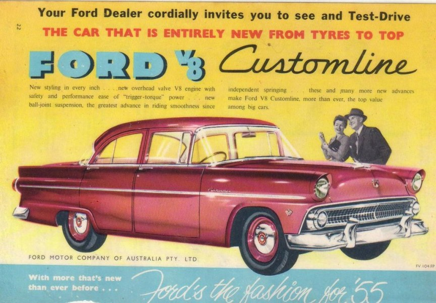 1955 ford cars » 1955 Ford Customline V8 Ad   Popular seller for Ford Austral      Flickr     1955 Ford Customline V8 Ad   by Five Starr Photos   Aussiefordadverts