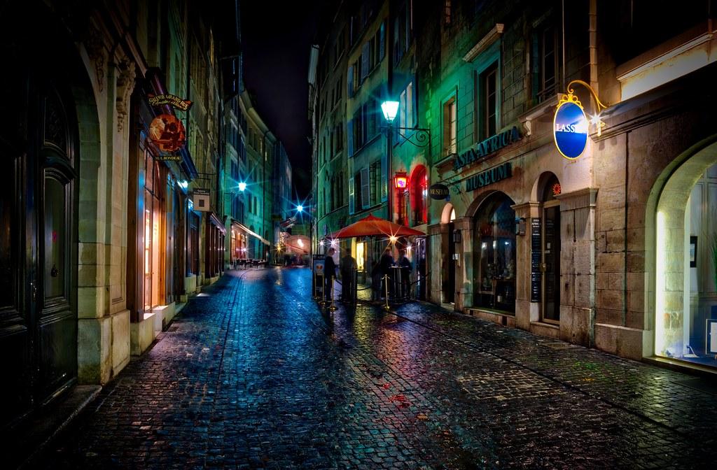 Geneva Rain Here S The Old Town Part Of Geneva In The