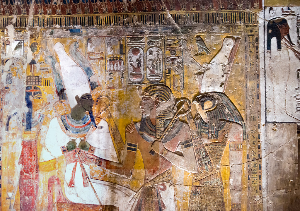 Kv17 The Tomb Of Seti I Pillared Chamber F Relief From