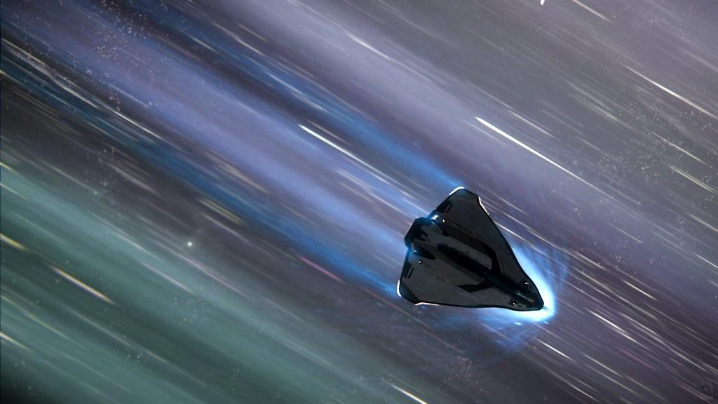 Star Citizen Avenger In Quantum Travel In Game