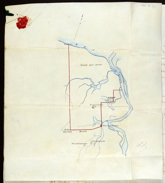 Pekapeka Block Deed Map  1860   This is the original map fro      Flickr     Pekapeka Block Deed Map  1860   by Archives New Zealand