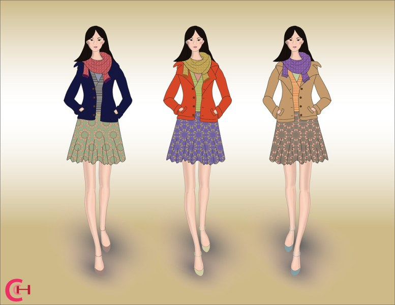 Fashion Croquis in multiple colorways   cignoh   Flickr     Fashion Croquis in multiple colorways   by cignoh