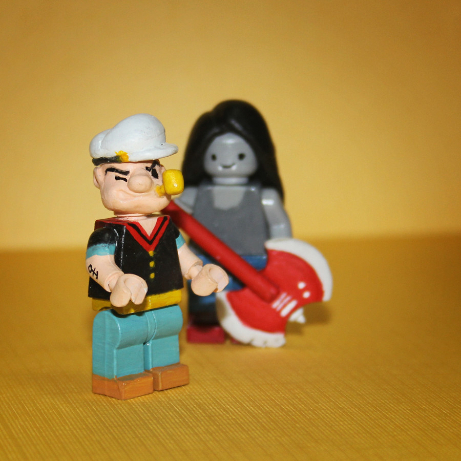 Lego Popeye   Marceline    Customising lego minifigs is pret      Flickr by sswoss Lego Popeye   Marceline    by sswoss