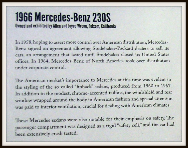 1964 studebaker cars » 1966 Mercedes Benz 220 S Info   Photographed at the Californ      Flickr     1966 Mercedes Benz 220 S Info   by Jack Snell   Thanks for over 26