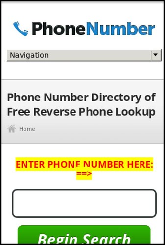 cell phone number lookup | Reverse lookup a phone number ...