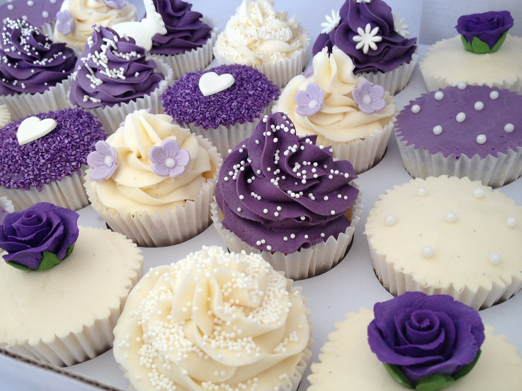 Purple Wedding Cupcakes   Heavenly Cupcakes   Flickr     Purple Wedding Cupcakes   by Heavenly Cupcakes