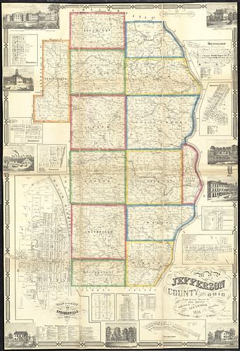 Map Of Jefferson County Ohio From Actual Surveys Flickr