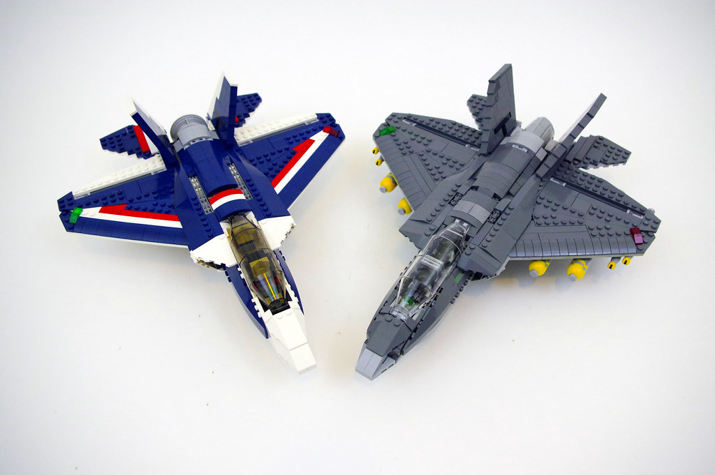 Blue Power Jet and my variation   LEGO F 35B Lightning II   Flickr     Blue Power Jet and my variation   LEGO F 35B Lightning II   by jskaare