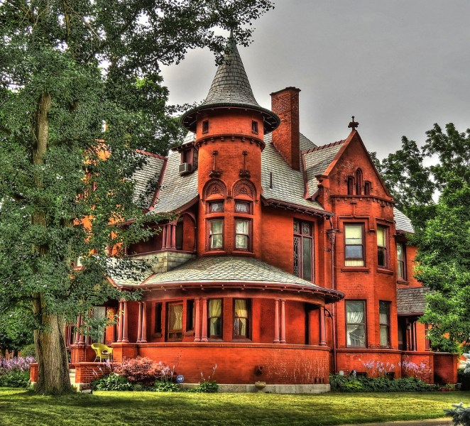 Queen Anne Style House in Urbana  Ohio   Seen along Scioto S      Flickr     Queen Anne Style House in Urbana  Ohio   by dok1
