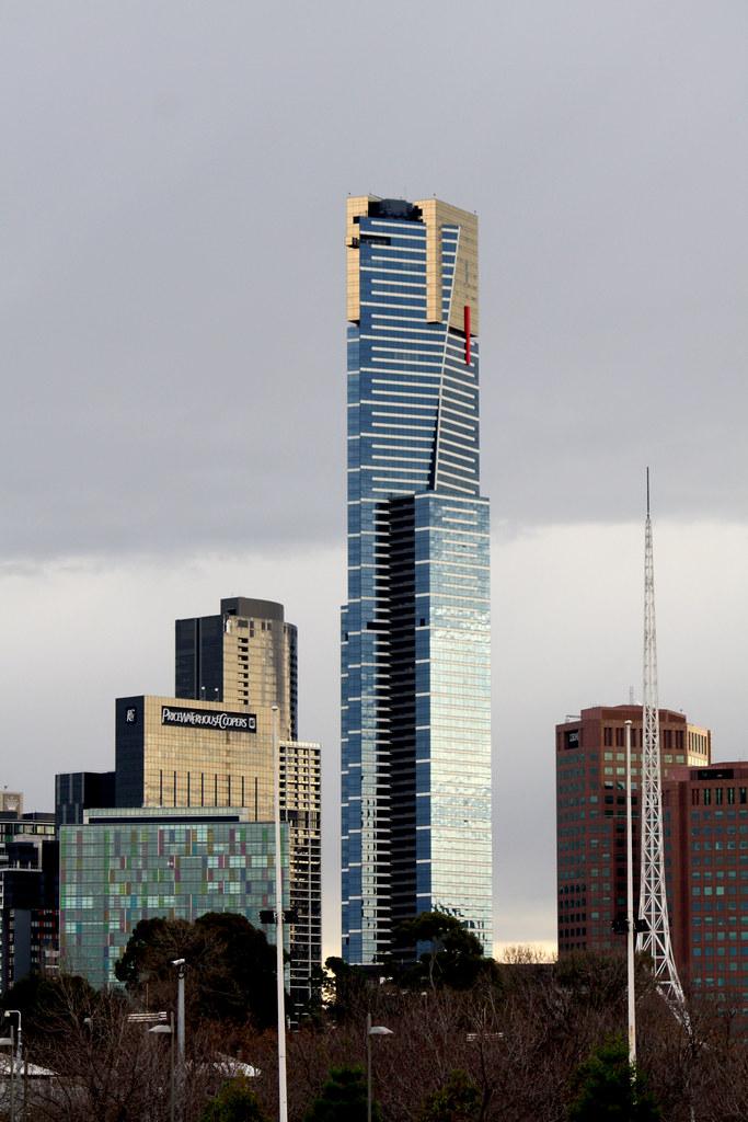 Eureka Tower Melbourne Australia View From Swan Street