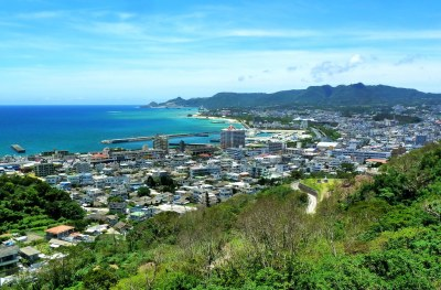 NAGO CITY ON THE EAST CHINA SEA | Looking West from the ...