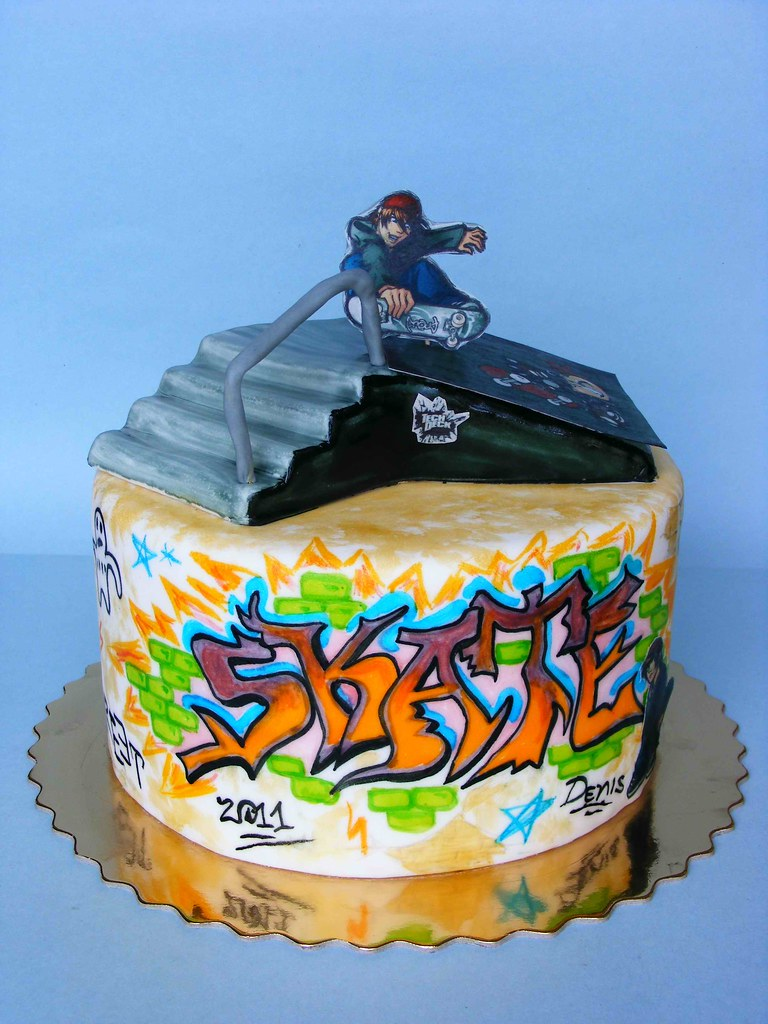 Skate Cake Happy 12 Bday Denis On 4th Of July Our