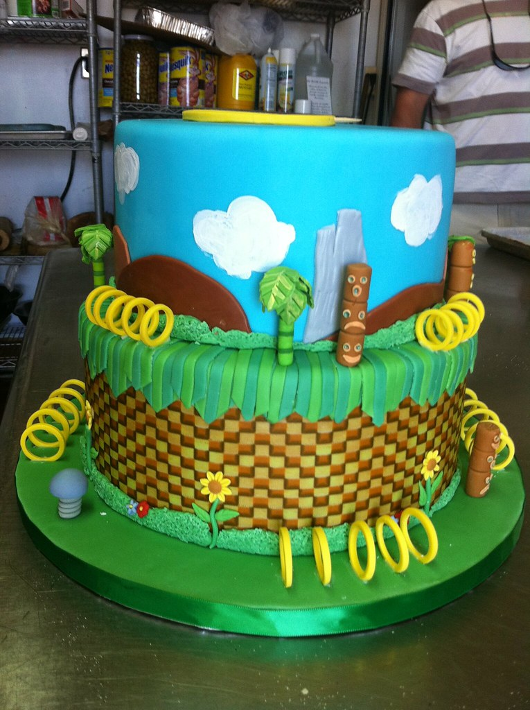 Sonic Hedgehog Cake A Client Gave Me A Cake Image From