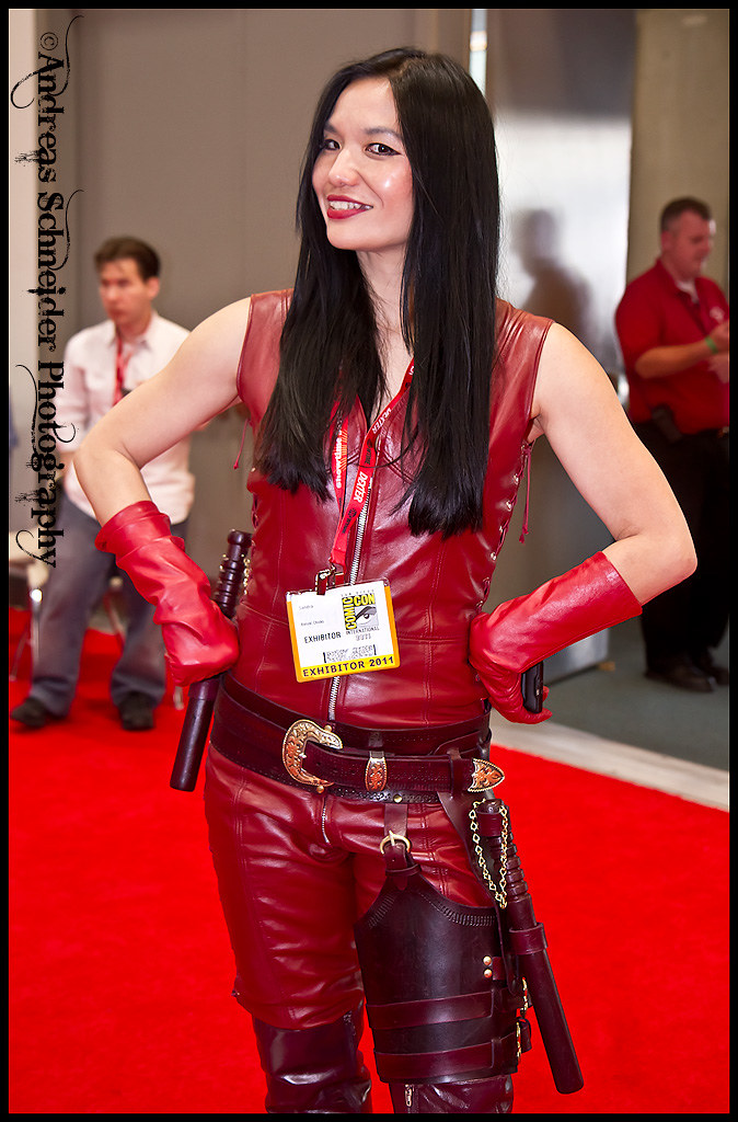 Sandra Chang Adair Of Banzai Chicks In Mord Sith Leather A
