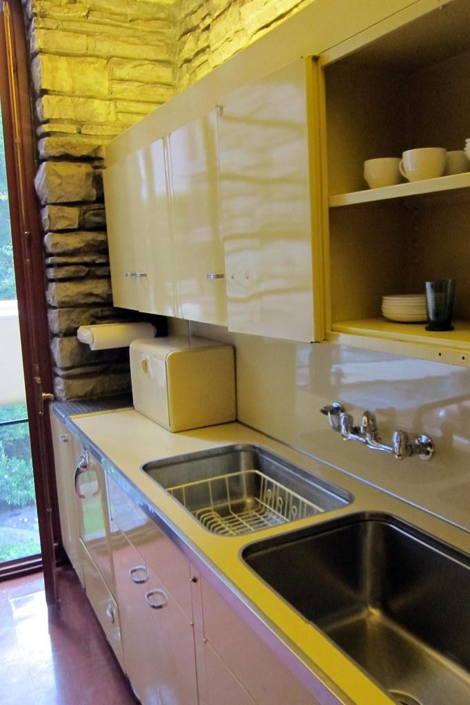 Pa Mill Run Fallingwater Kitchen Modern For Its Day