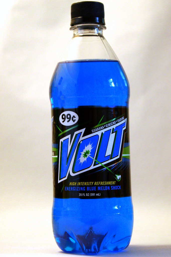 Volt Volt Is A Blue Energy Drink And Is Not To Be