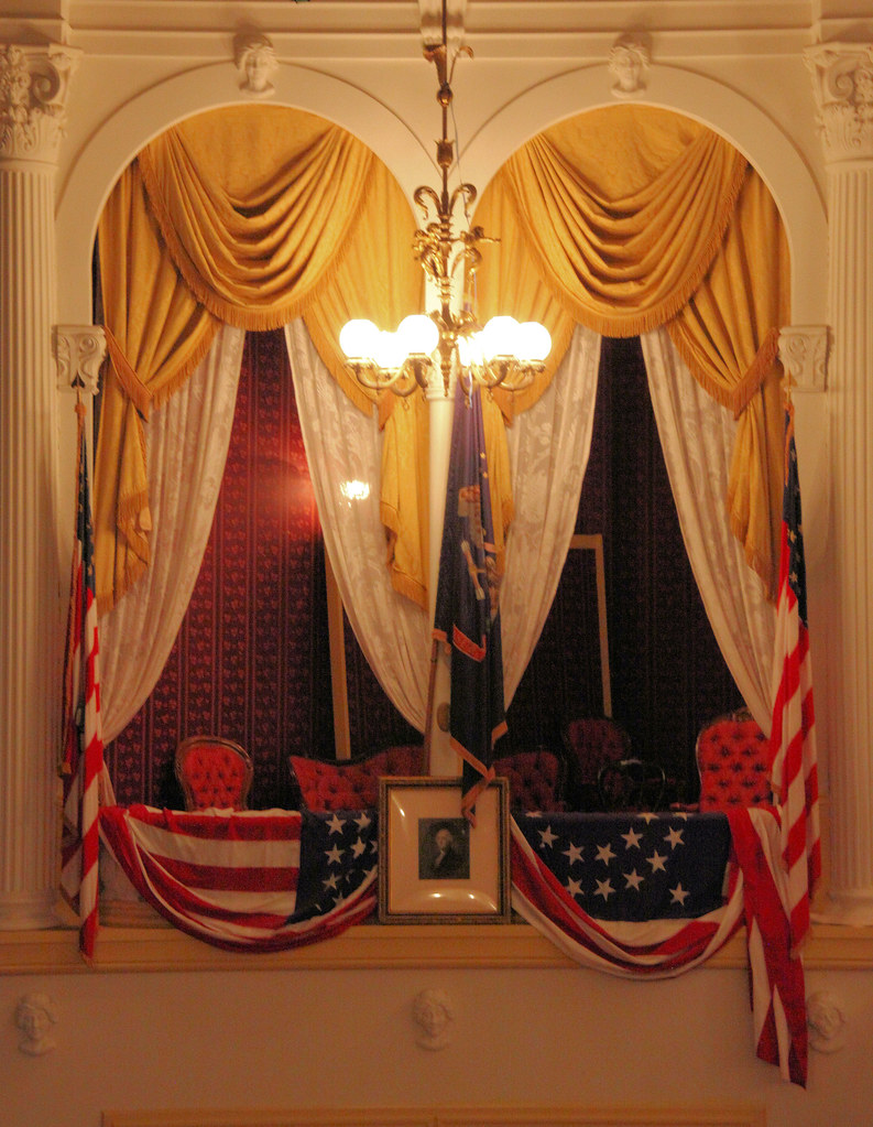 Fords Theatre Presidential Box From Across The Theatre