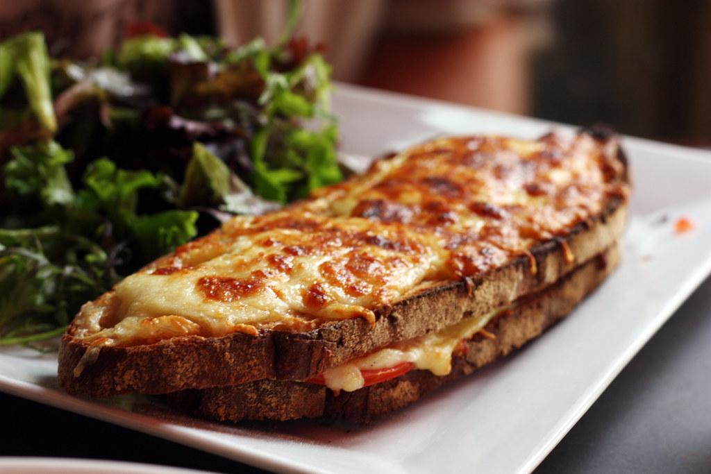Vegetarian Croque Monsieur Cafe Bosquet On Rue Bosquet