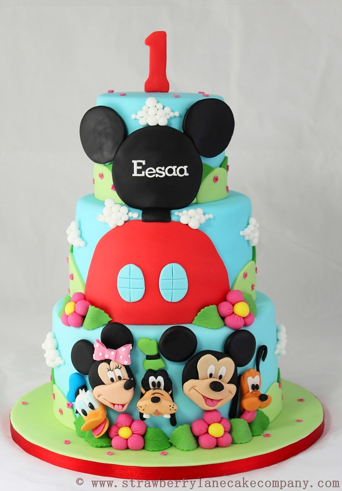 Mickey Mouse Club House And Friends 1st Birthday Cake Flickr