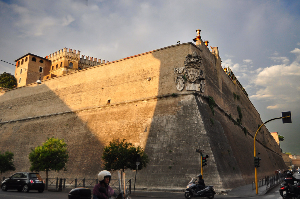 The Vatican Wall This Is Near The Main Entrance Through