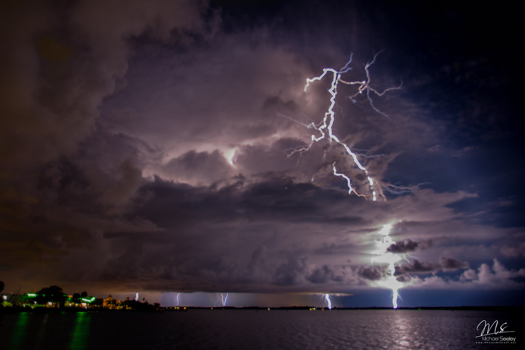 Lightning In Melbourne Florida As I Was Shooting My