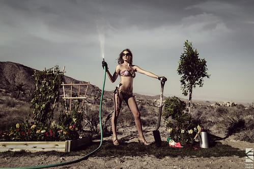 Bikini Gardener Veronica Flores Greening Up The Desert
