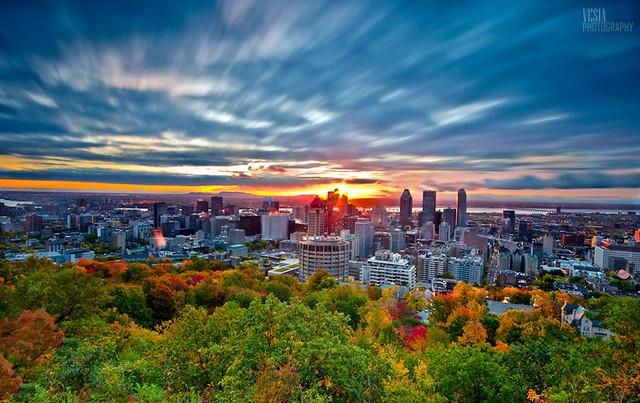 Montreal Autumn Sunrise Flickr Photo Sharing