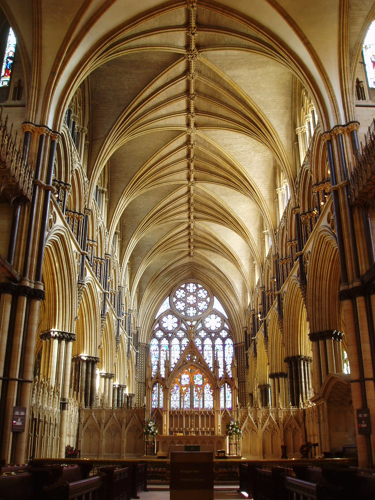 Angel Choir Lincoln Cathedral Lincoln Cathedral Has A