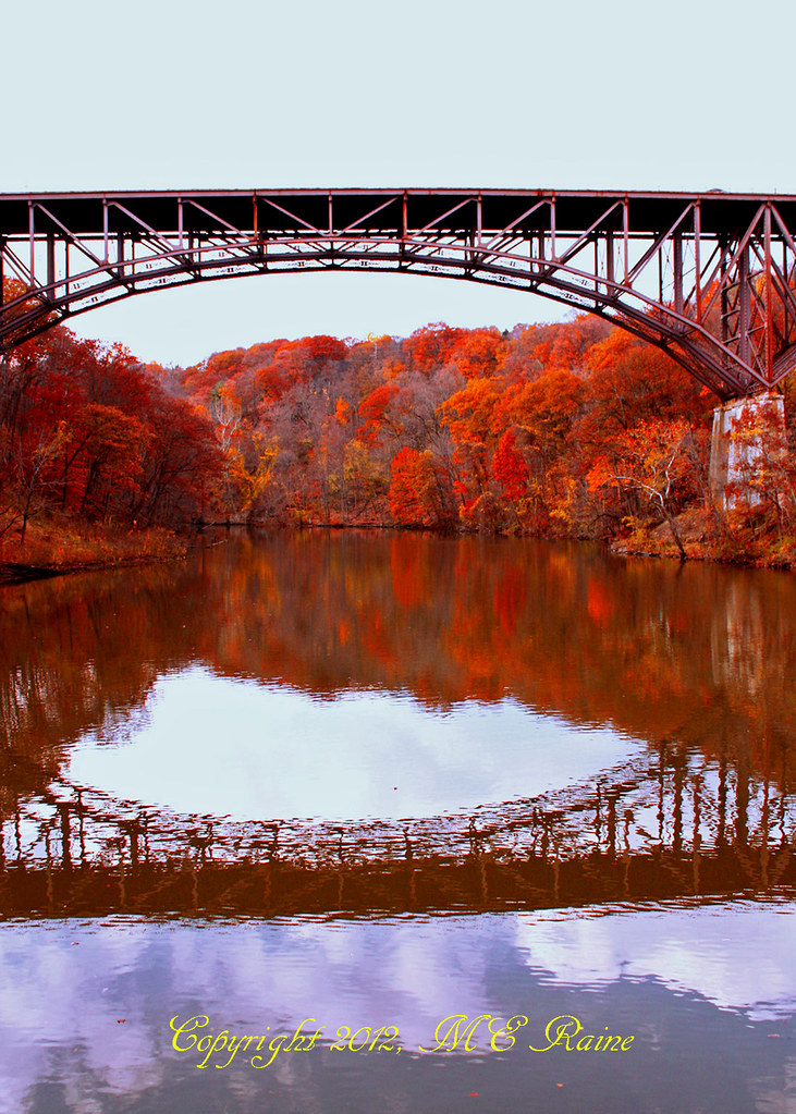 Harriman State Park Ny Fall Foliage And Reflections With O