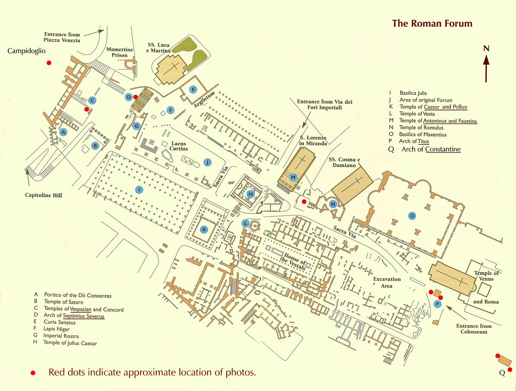 forumromanum1 Diagrammatic Plan of the Roman Forum. | Flickr