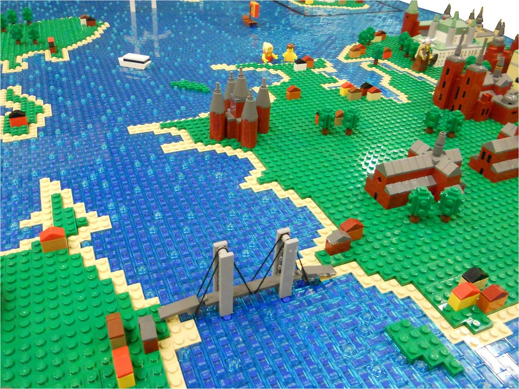 LEGO Map of Denmark   Storeb    lt  English  Great Belt  is a s      Flickr     LEGO Map of Denmark   by Lasse Vesterg    rd