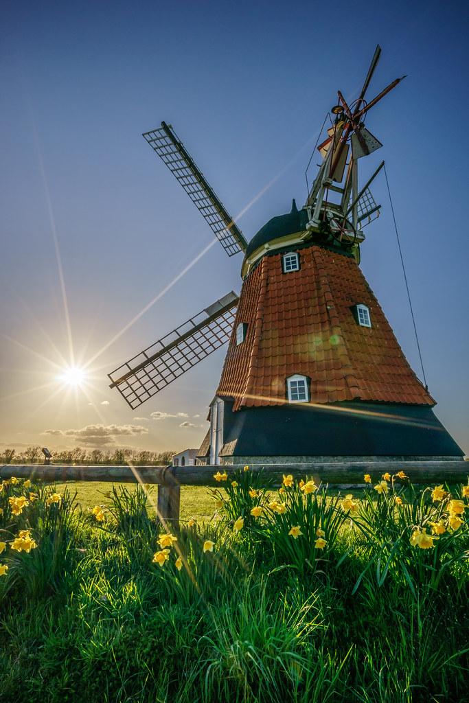 Bjerre Windmill Stenderup Denmark Travel Photography