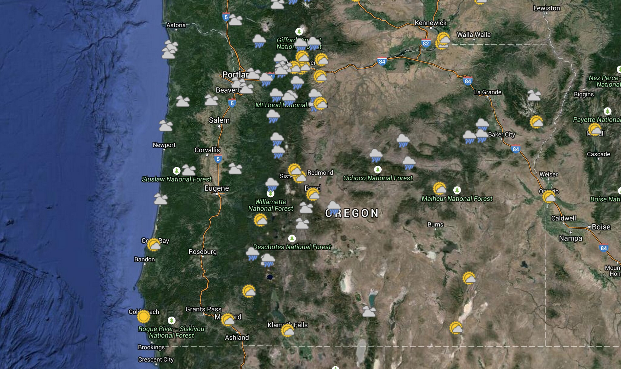 Saturday  May 23 Weather Map  Mostly Rain and Part Sun   Oregon Hikers Oregon Weather Map  Sat  May 23  2015  by fluttershyismagic  on Flickr