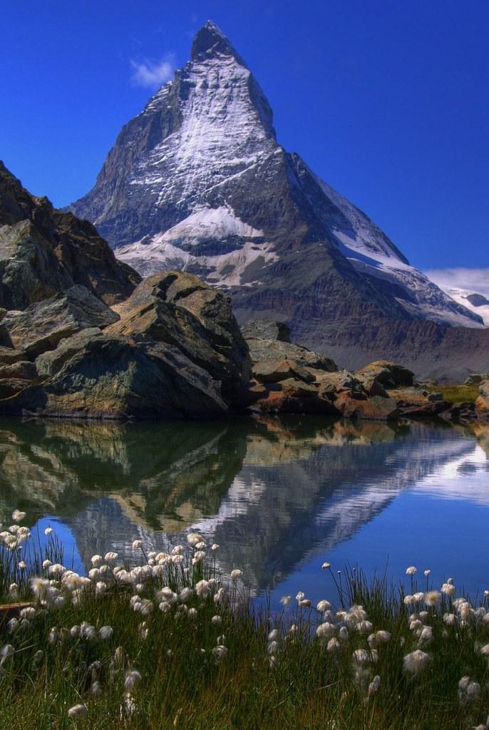 Mt Matterhorn View Over Lake Riffel Towards Mt
