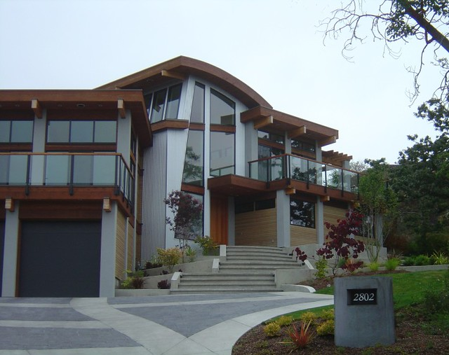 Modern Northwest Home This Modern Post And Beam Home Was