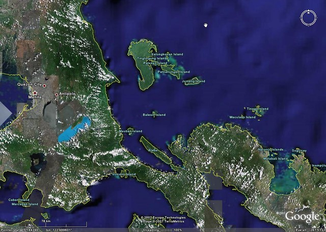 Balesin Island - Location Google Earth Map | Mr Minton ...