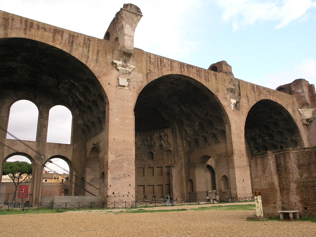 Rome, Italy: Basilica of Maxentius, Forum Romanum (Roman F ...