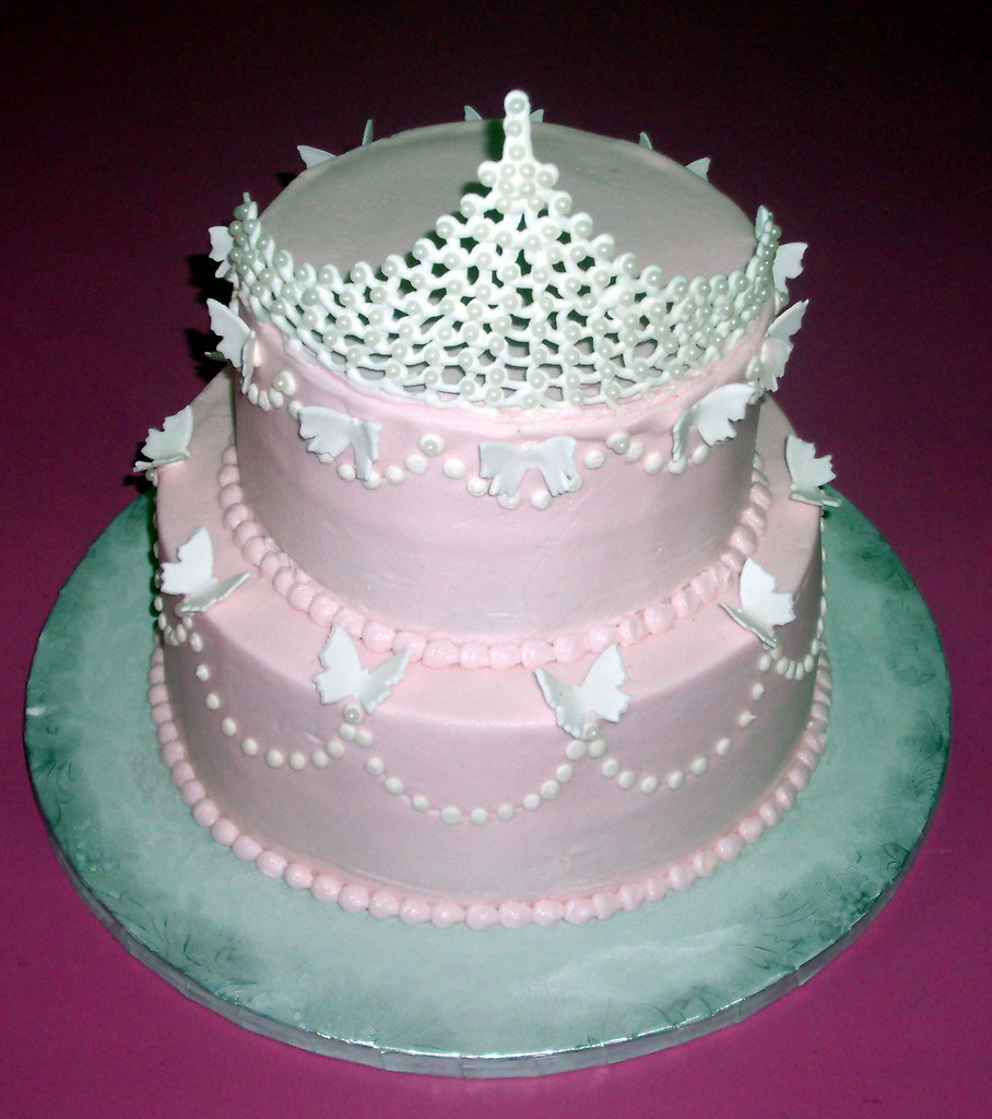 Princess Pearl Tiara Birthday Cake 100 Edible Tiara