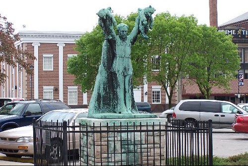 Charles Major Statue Shelbyville In A Question I Often