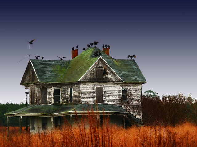 Haunted House Took This On The Back Roads Near My