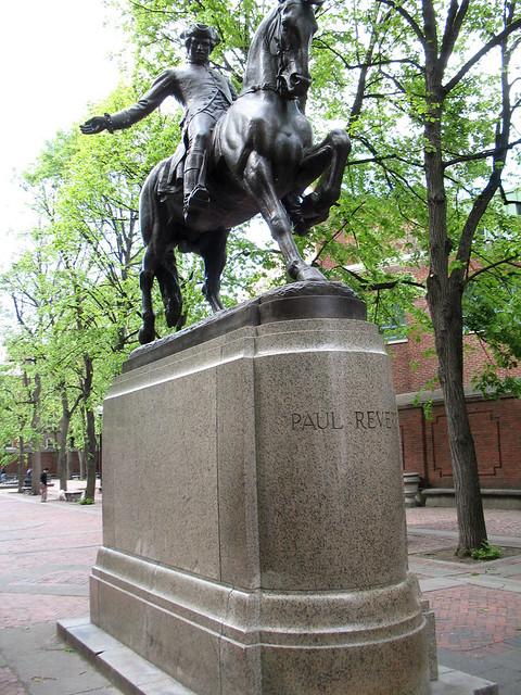 Paul Revere Statue Paul Revere Mall Boston May 19