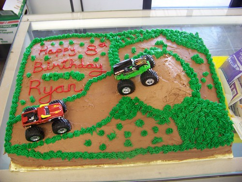 Monster Truck Birthday Cake A 1 2 Sheet Chocolate Cake