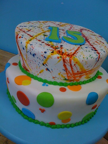 Splatter Paint Birthday Cake I Love When We Are Able To