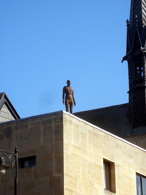 Man On Roof Sculpture On Broad Street Roof I Wonder If