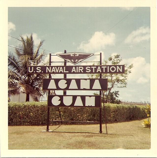 Agana Station Air Guam Naval Map